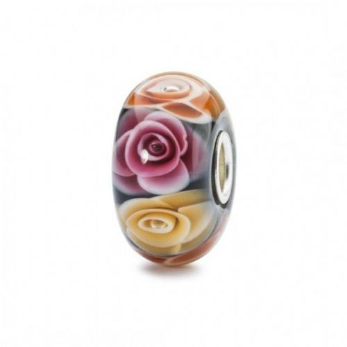 Trollbeads TGLBE-30019 Roses for Mum Flower Limited Edition Glass Bead